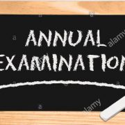 blackboard-with-the-inscription-annual-examination-a-piece-of-white-EAG992